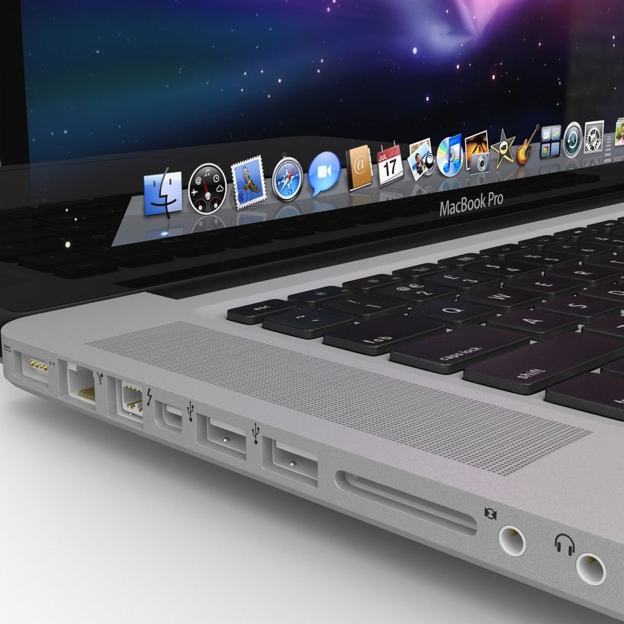 Apple MacBookPro 15 royalty-free 3d model - Preview no. 15