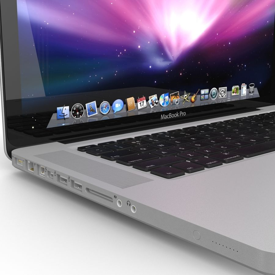 Apple MacBookPro 15 royalty-free 3d model - Preview no. 14