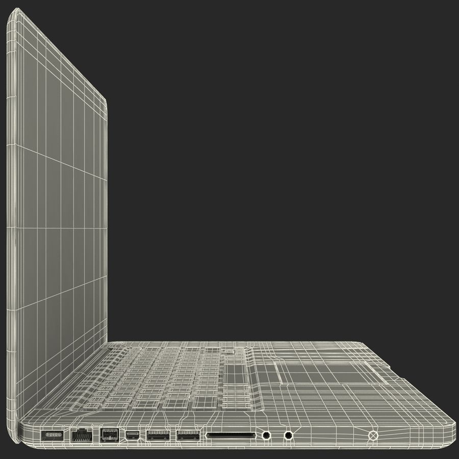 Apple MacBookPro 15 royalty-free 3d model - Preview no. 35