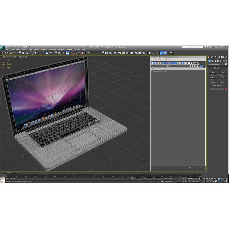 Apple MacBookPro 15 royalty-free 3d model - Preview no. 6