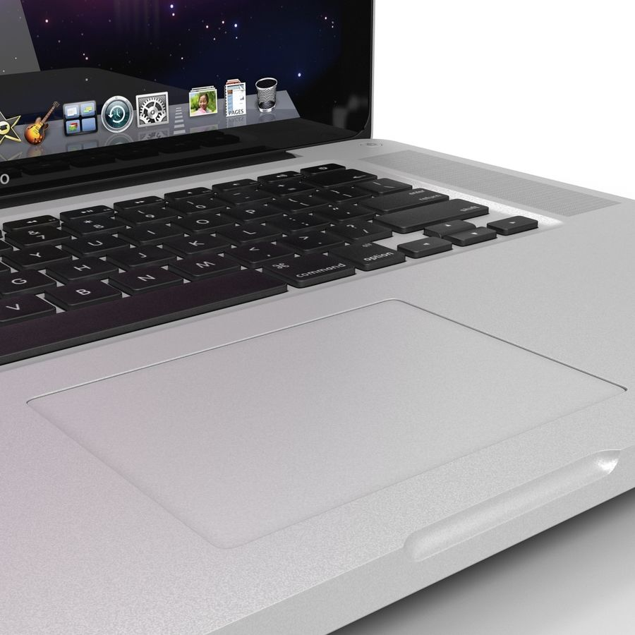 Apple MacBookPro 15 royalty-free 3d model - Preview no. 16
