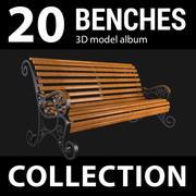 Коллекция скамей 3d model