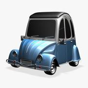 Citroen 3CV Cartoon Car DSR 3d model