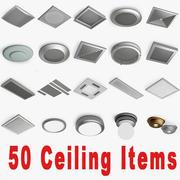 50 Ceiling items 3d model