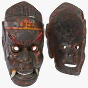 Masque tribal asiatique 3d model