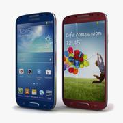 Samsung I9506 Galaxy S4ブルー&レッド 3d model