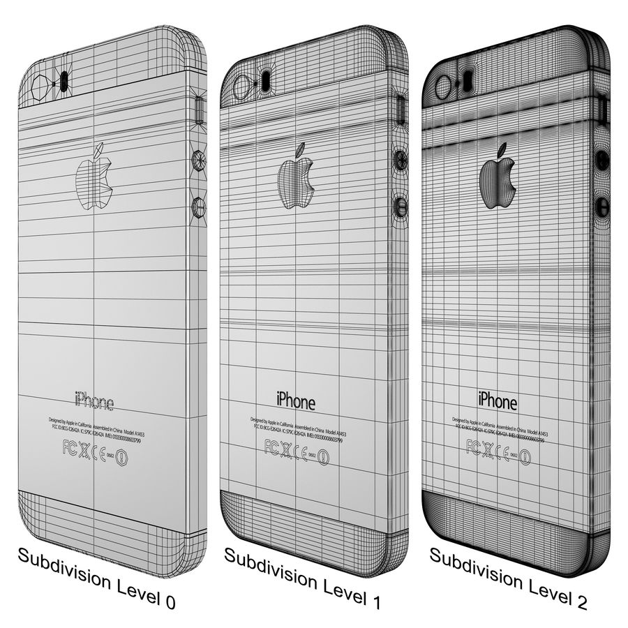 Apple iPhone 5s royalty-free 3d model - Preview no. 23