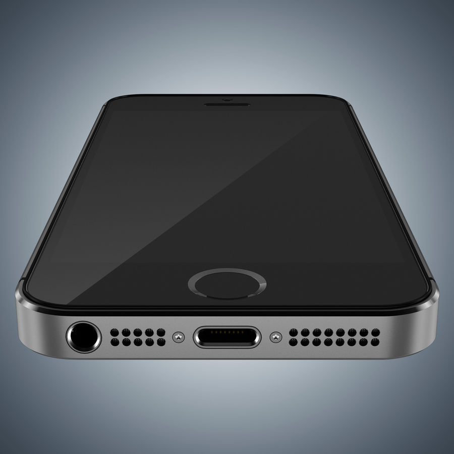 Apple iPhone 5s royalty-free 3d model - Preview no. 14