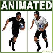 Biały gracz rugby CG 3d model