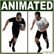Jugador de rugby blanco CG modelo 3d