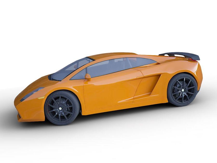 Lamborghini Gallardo realistico royalty-free 3d model - Preview no. 5