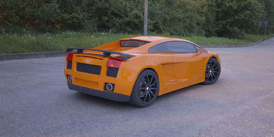 Lamborghini Gallardo realistico royalty-free 3d model - Preview no. 2