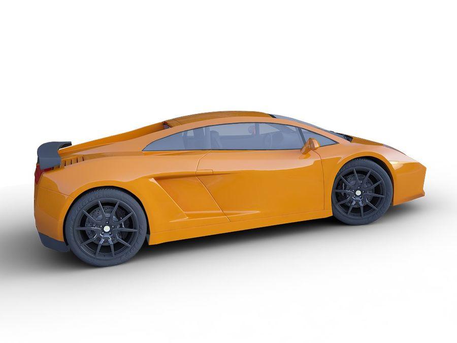 Lamborghini Gallardo realistico royalty-free 3d model - Preview no. 6