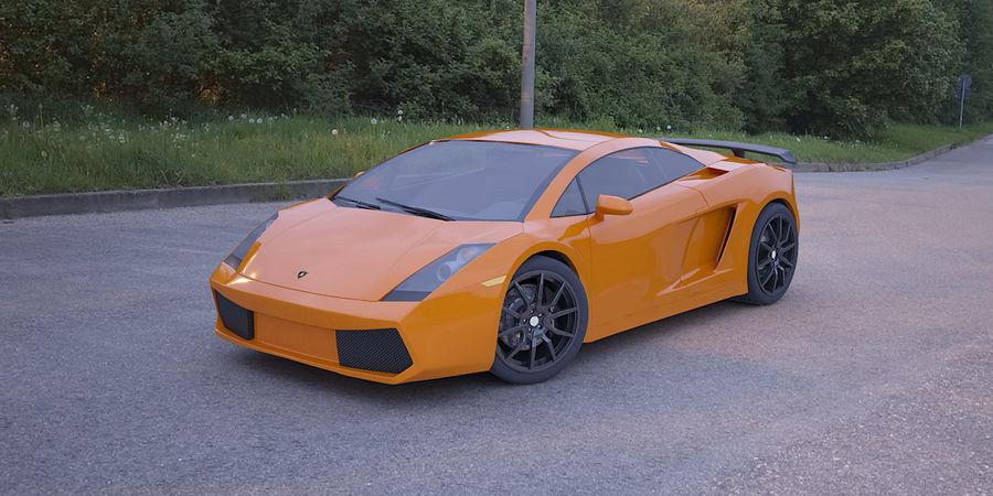 Lamborghini Gallardo realistico royalty-free 3d model - Preview no. 1