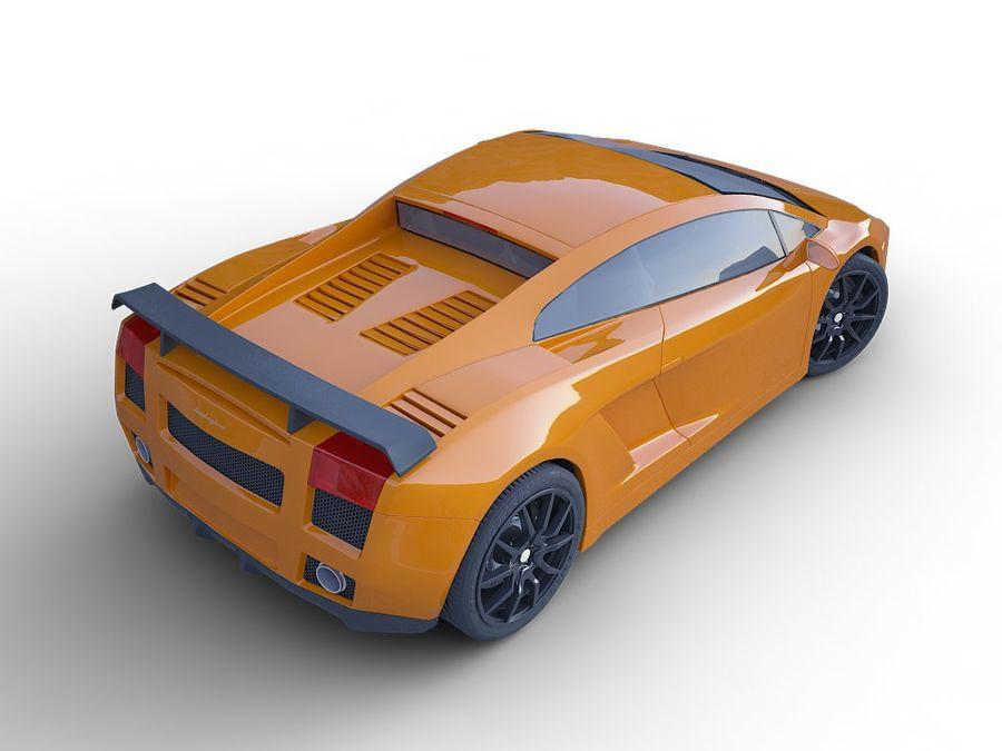 Lamborghini Gallardo realistico royalty-free 3d model - Preview no. 8