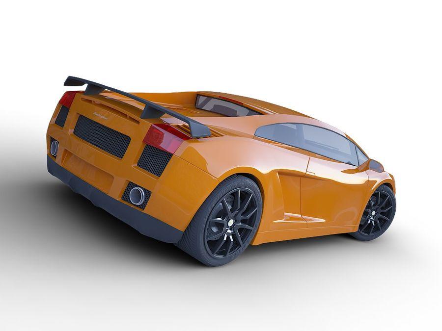 Lamborghini Gallardo realistico royalty-free 3d model - Preview no. 4