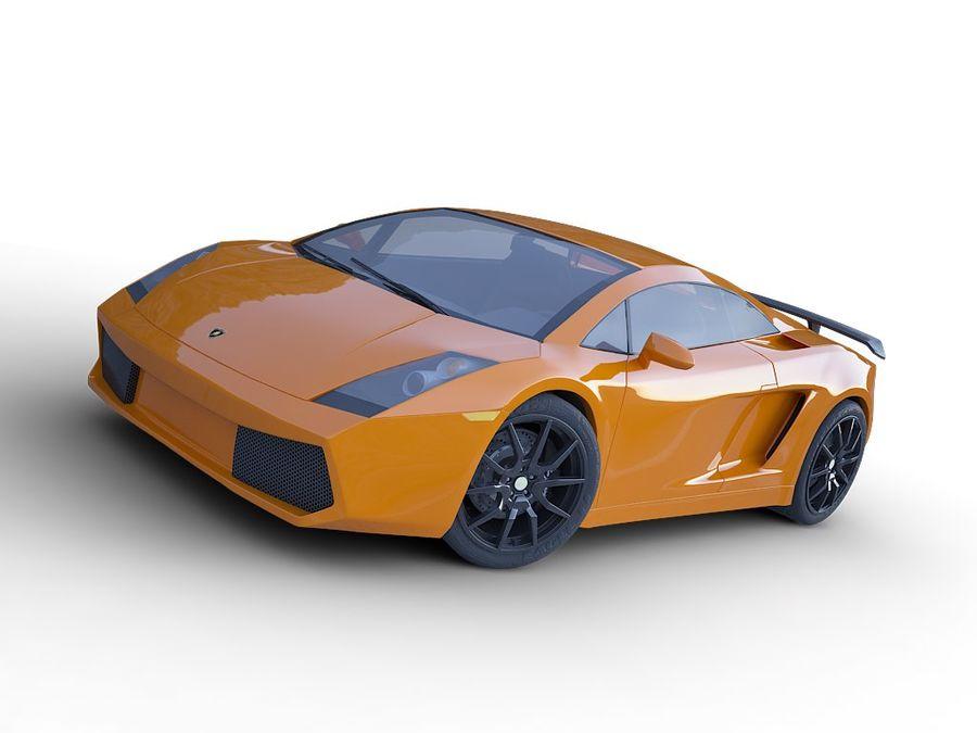 Lamborghini Gallardo realistico royalty-free 3d model - Preview no. 3