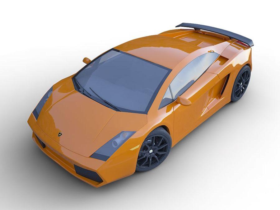Lamborghini Gallardo realistico royalty-free 3d model - Preview no. 7