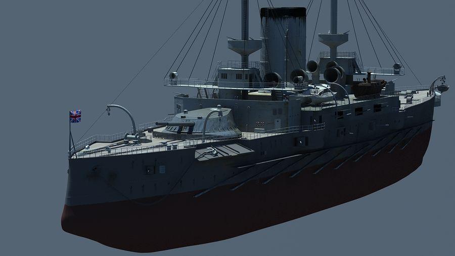 Ocean battleship royalty-free 3d model - Preview no. 6
