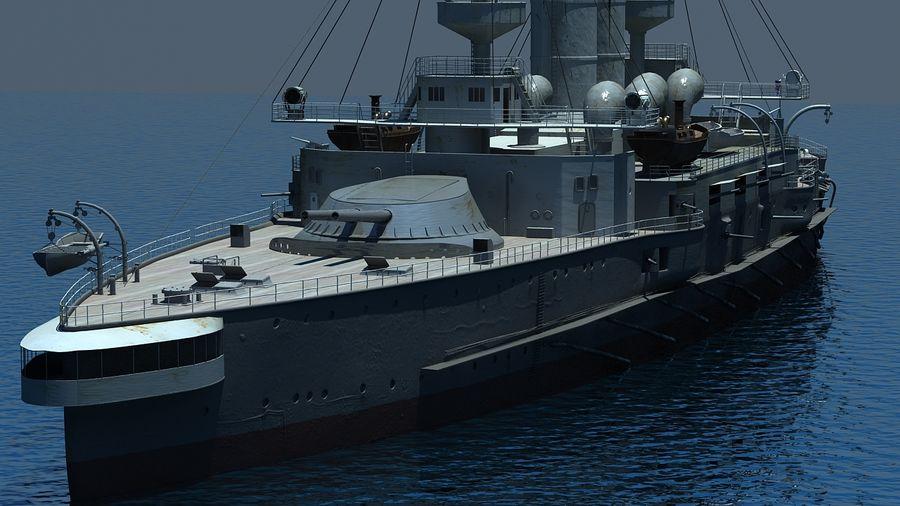 Ocean battleship royalty-free 3d model - Preview no. 4