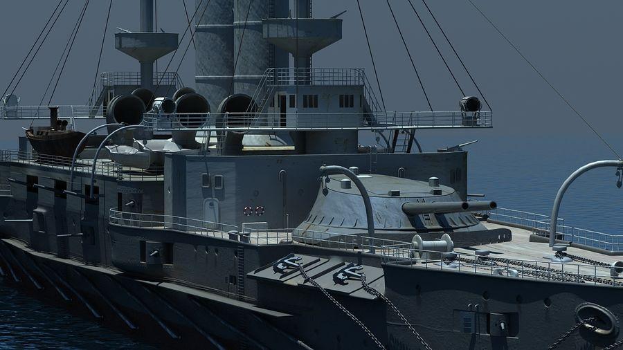 Ocean battleship royalty-free 3d model - Preview no. 5