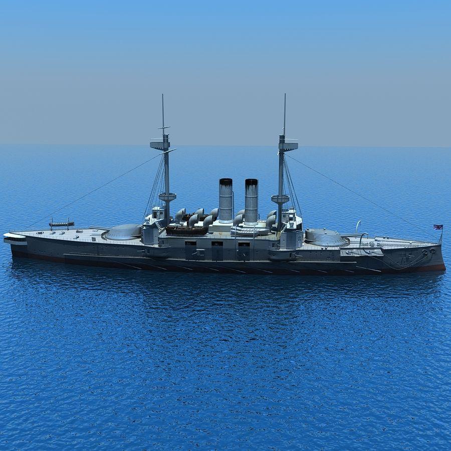 Ocean battleship royalty-free 3d model - Preview no. 9