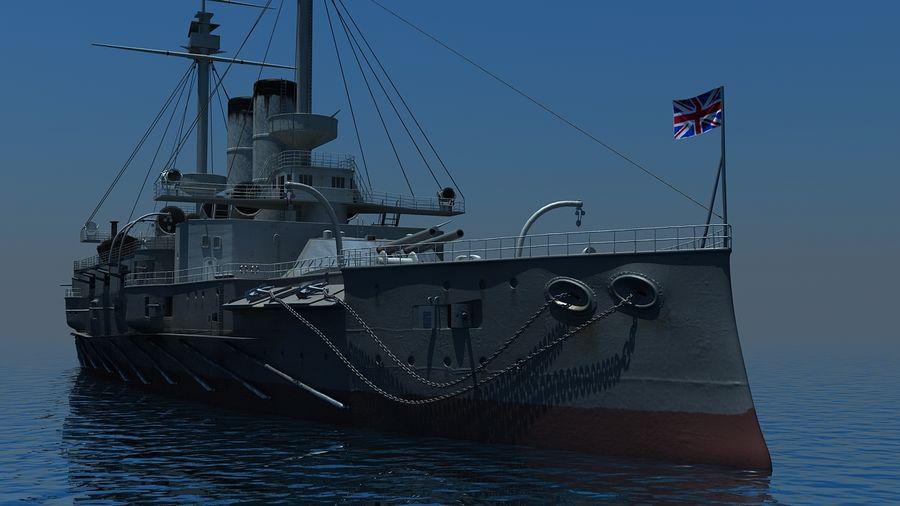 Ocean battleship royalty-free 3d model - Preview no. 2