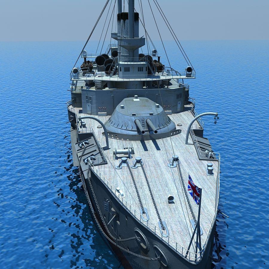 Ocean battleship royalty-free 3d model - Preview no. 7