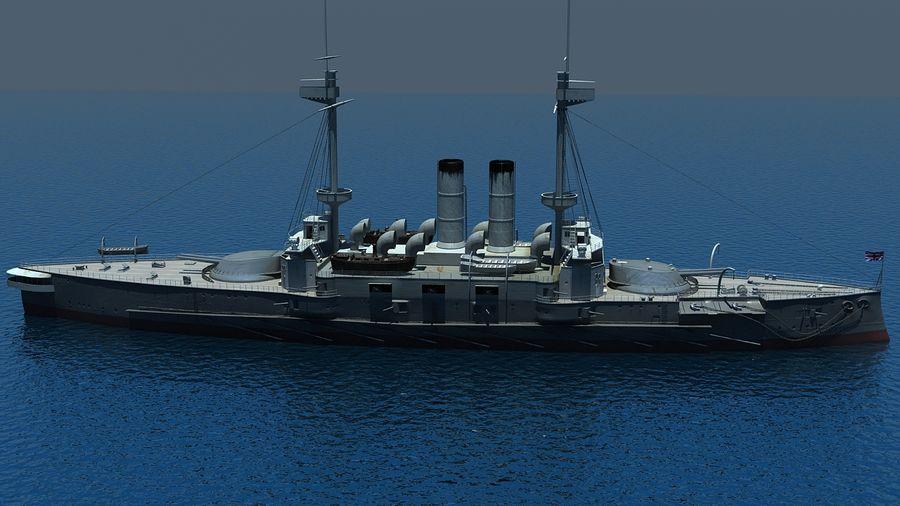 Ocean battleship royalty-free 3d model - Preview no. 8