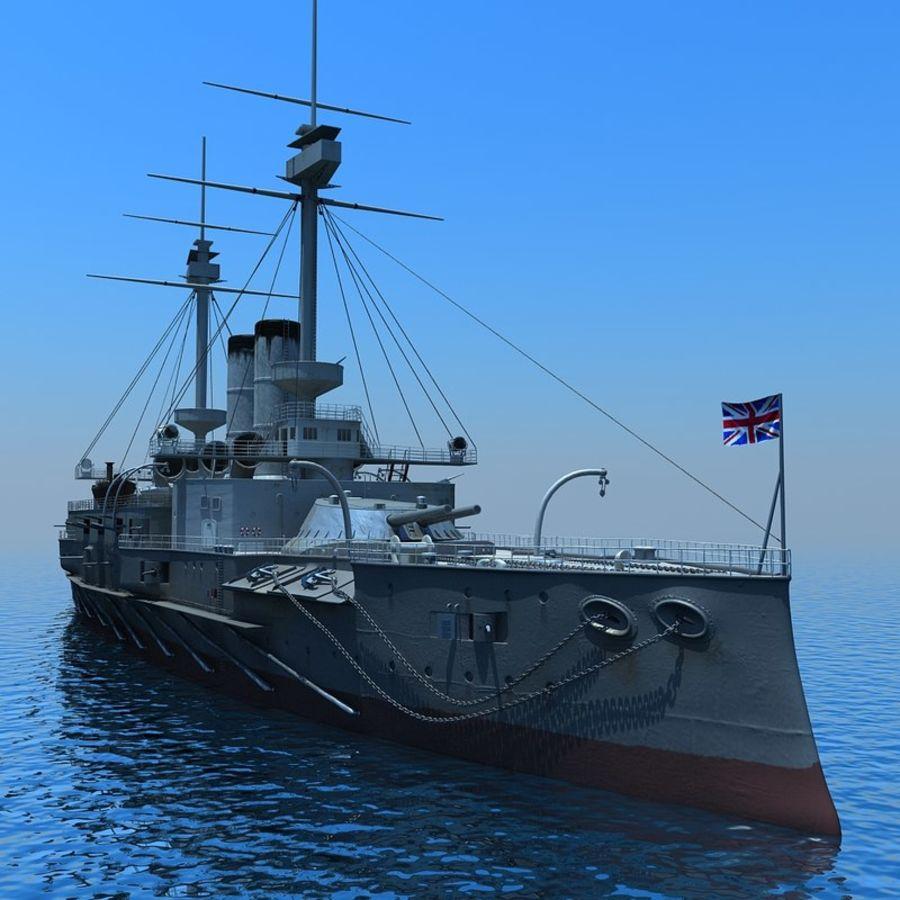 Ocean battleship royalty-free 3d model - Preview no. 3