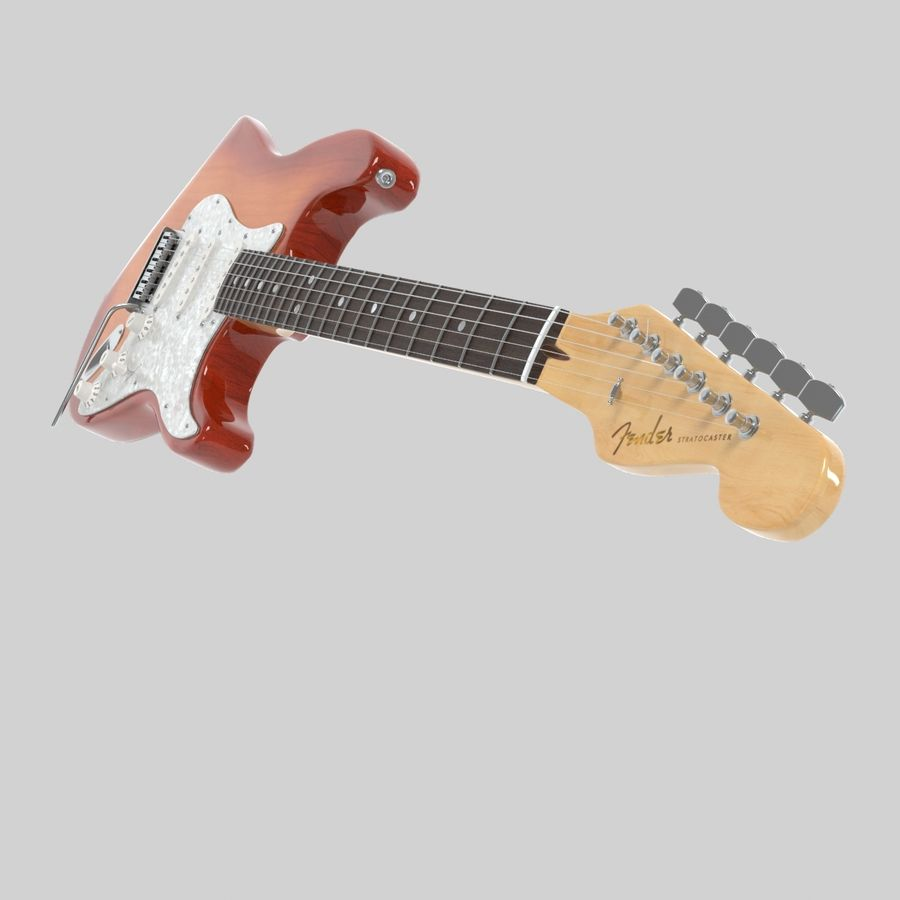 Fender Stratocaster Guitar royalty-free 3d model - Preview no. 6