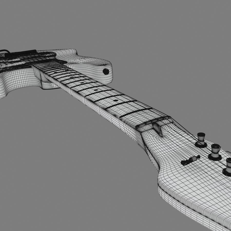 Fender Stratocaster Guitar royalty-free 3d model - Preview no. 14