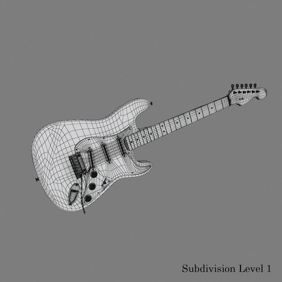 Fender Stratocaster Guitar royalty-free 3d model - Preview no. 18