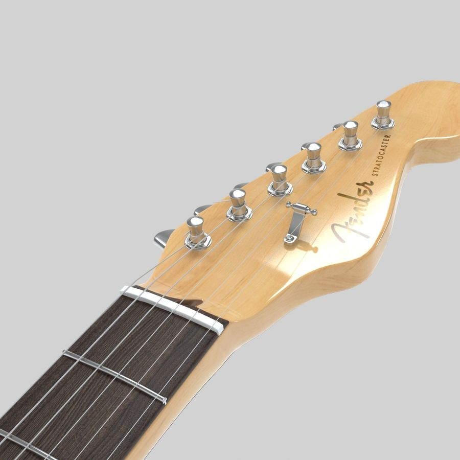 Fender Stratocaster Guitar royalty-free 3d model - Preview no. 9