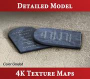 Les dix commandements - Tablettes de pierre 3d model