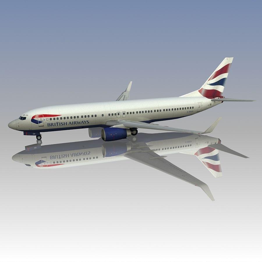 영국 항공 상업용 항공기 royalty-free 3d model - Preview no. 6
