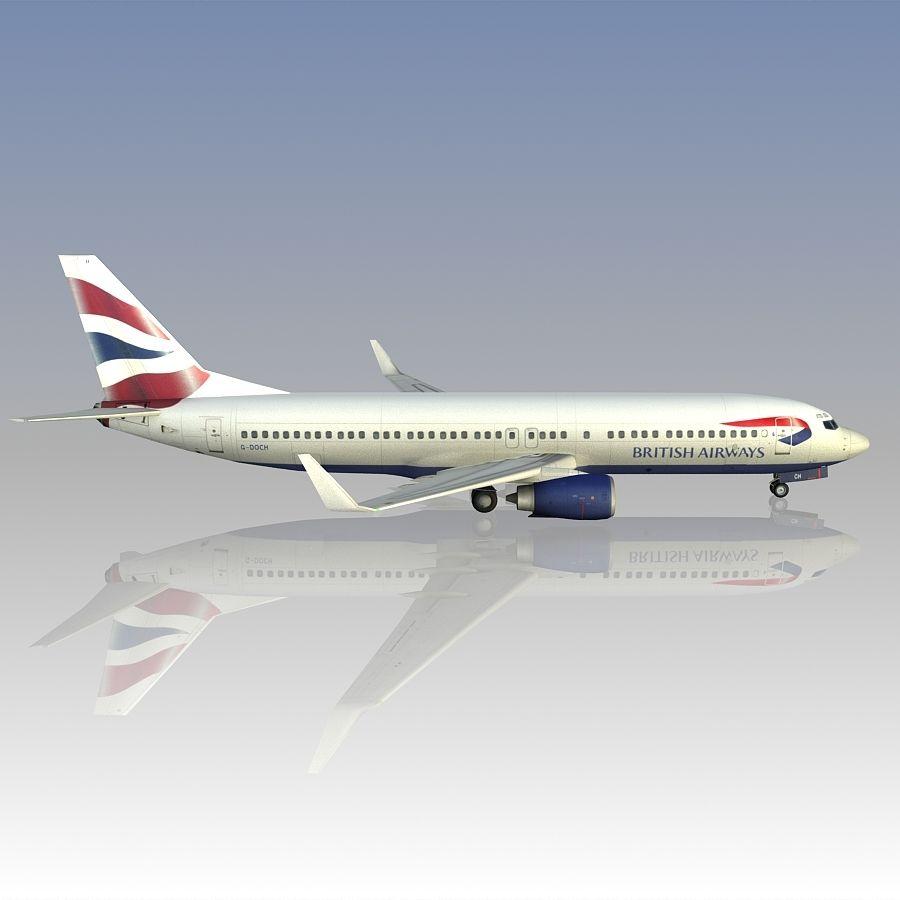 영국 항공 상업용 항공기 royalty-free 3d model - Preview no. 11