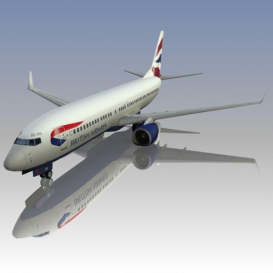 영국 항공 상업용 항공기 royalty-free 3d model - Preview no. 4