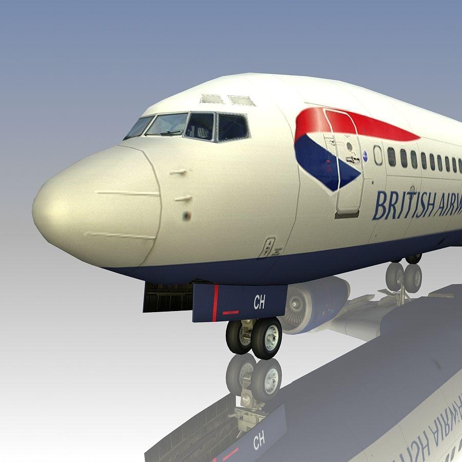 영국 항공 상업용 항공기 royalty-free 3d model - Preview no. 19