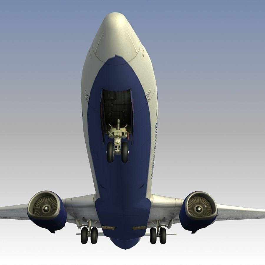 영국 항공 상업용 항공기 royalty-free 3d model - Preview no. 21