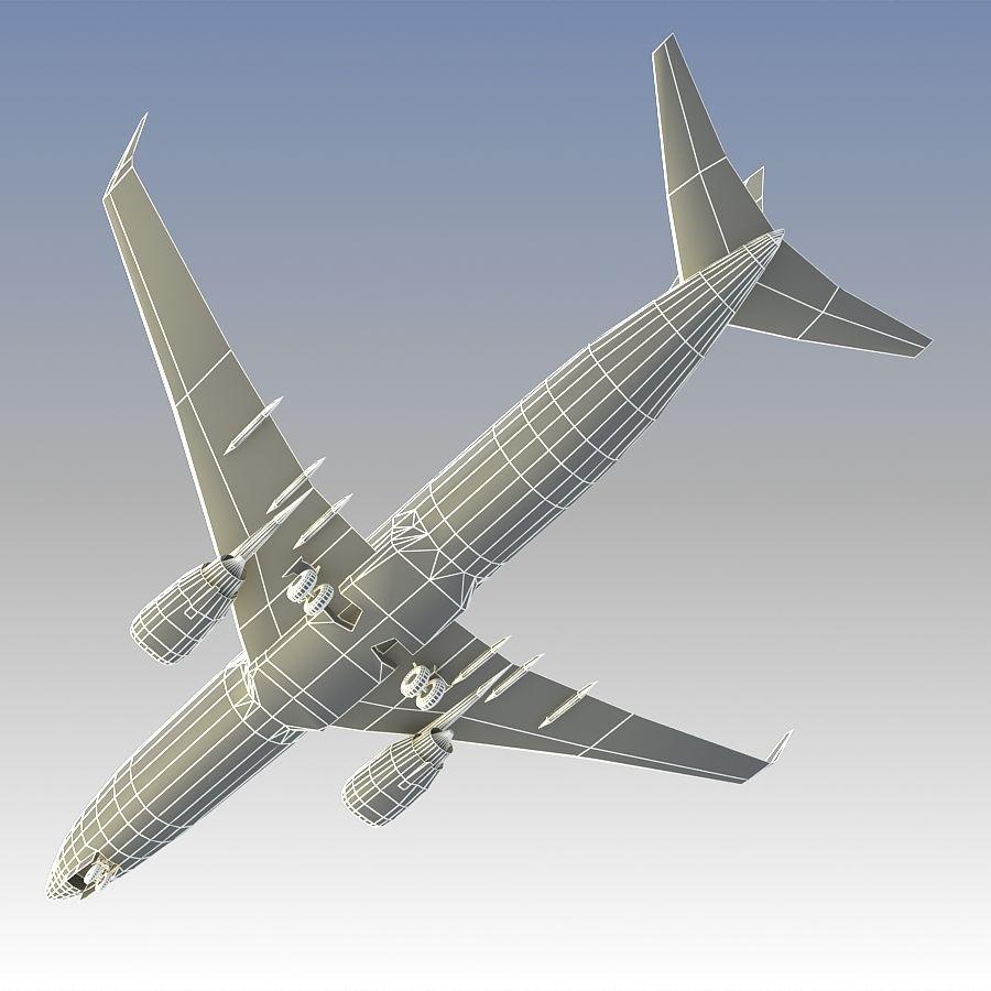 영국 항공 상업용 항공기 royalty-free 3d model - Preview no. 26