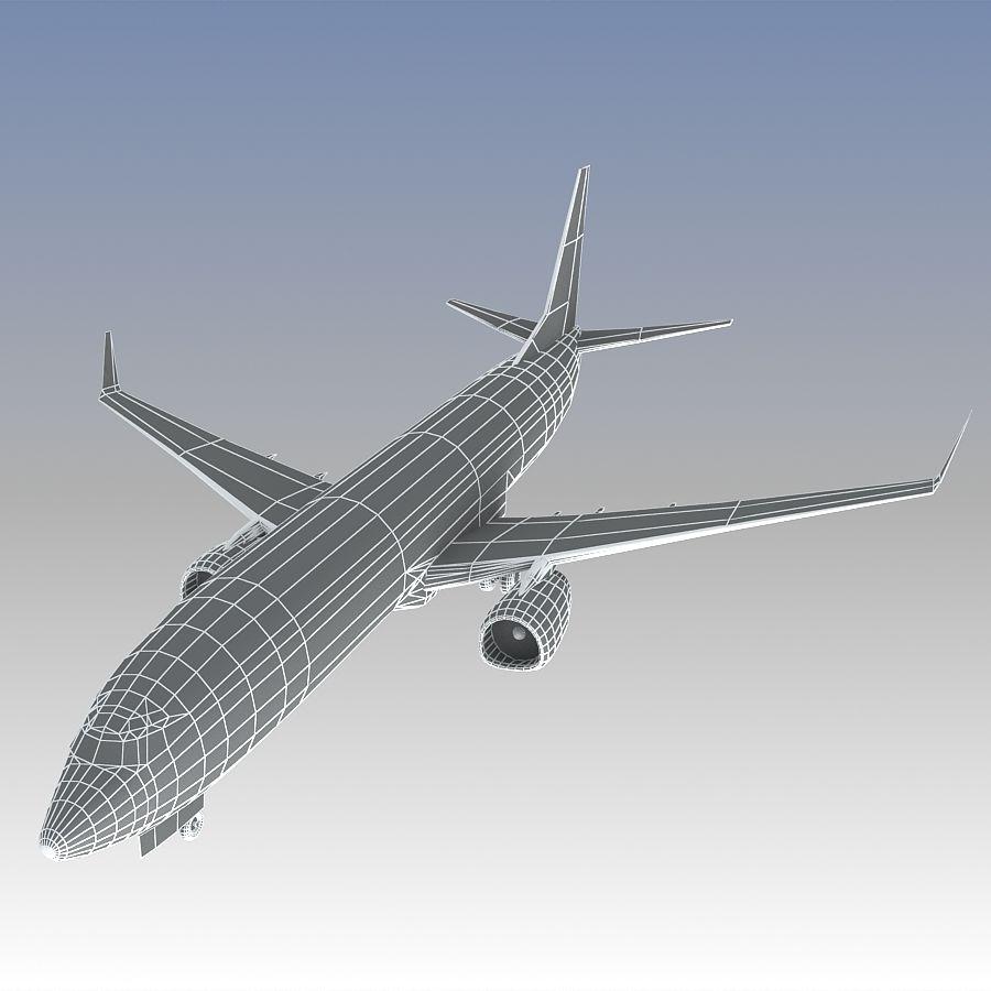 영국 항공 상업용 항공기 royalty-free 3d model - Preview no. 24