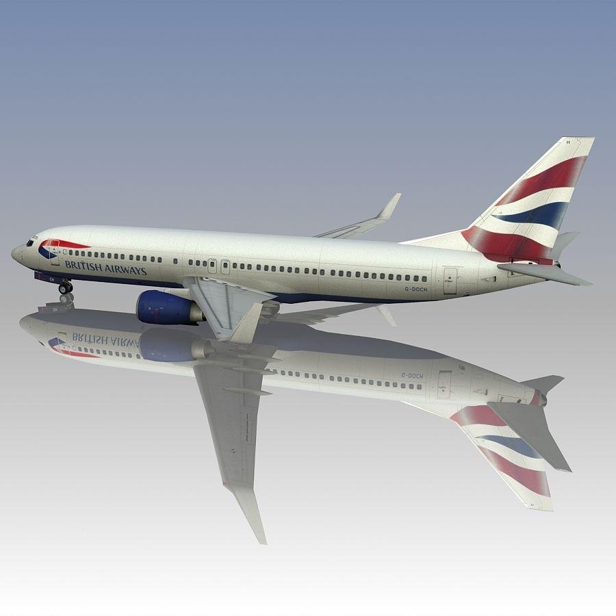 영국 항공 상업용 항공기 royalty-free 3d model - Preview no. 7