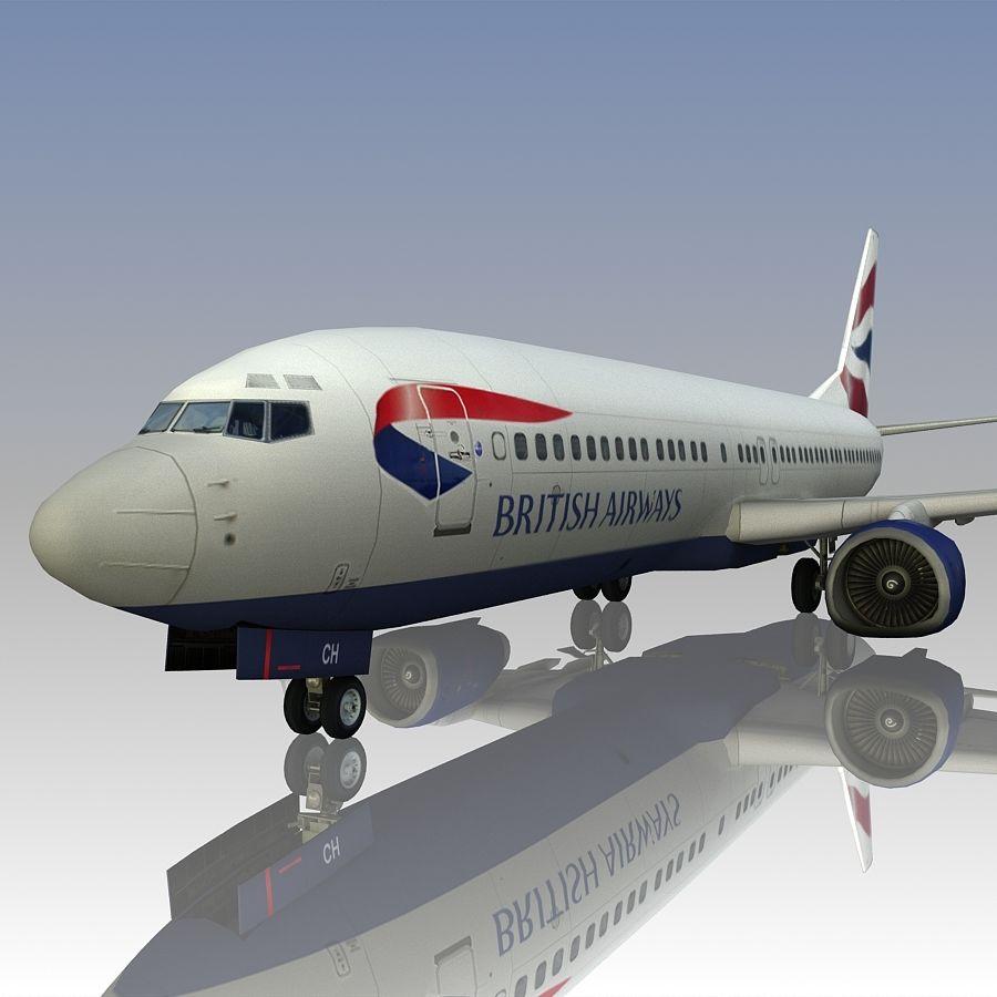 영국 항공 상업용 항공기 royalty-free 3d model - Preview no. 16