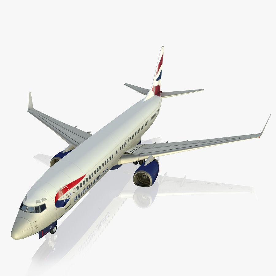 영국 항공 상업용 항공기 royalty-free 3d model - Preview no. 1