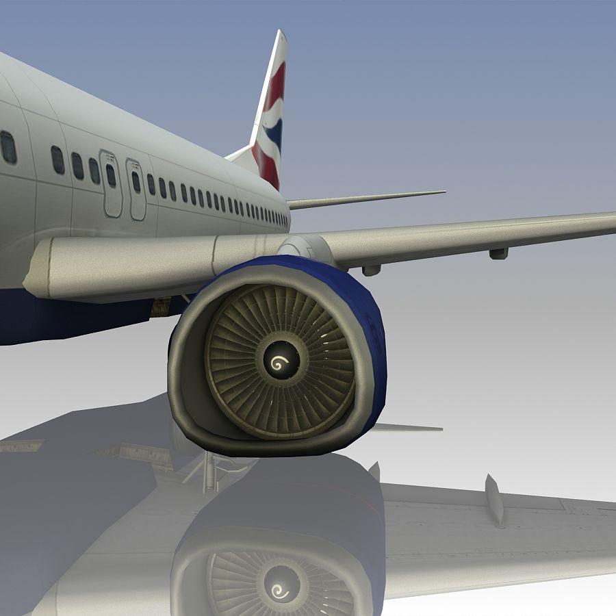영국 항공 상업용 항공기 royalty-free 3d model - Preview no. 18