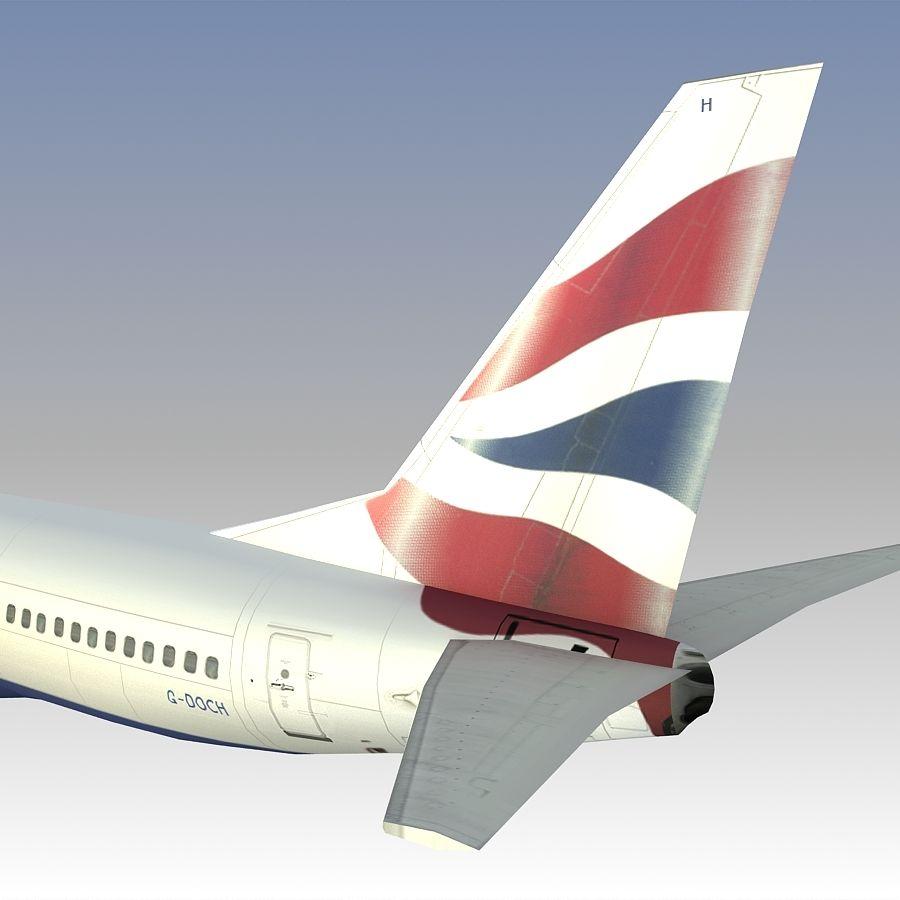 영국 항공 상업용 항공기 royalty-free 3d model - Preview no. 23
