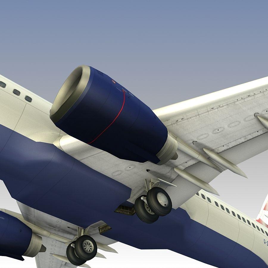 영국 항공 상업용 항공기 royalty-free 3d model - Preview no. 22