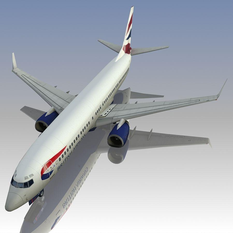 영국 항공 상업용 항공기 royalty-free 3d model - Preview no. 15