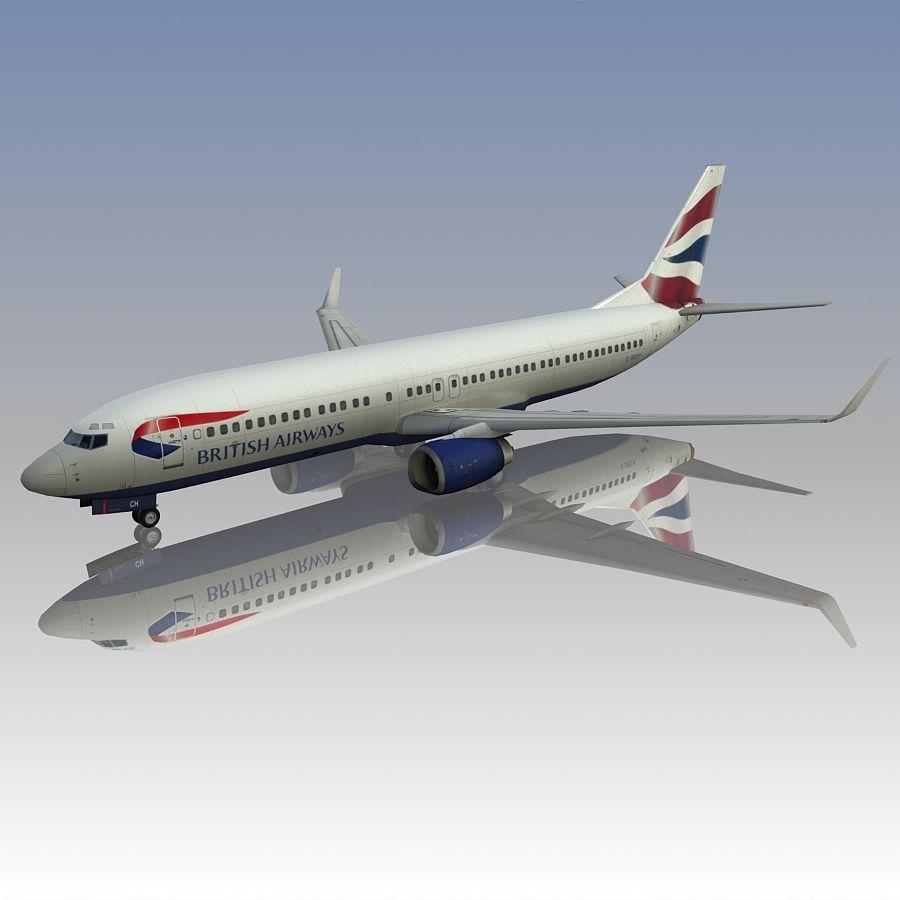 영국 항공 상업용 항공기 royalty-free 3d model - Preview no. 5